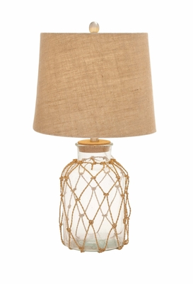Fascinating Unique Styled Glass Rotable Lamp by Woodland Import