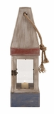 Fascinating Wood Rope Glass Candle Lantern by Woodland Import