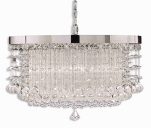 Fascination 3 Light Chandelier With Chrome Plated Rim Brand Uttermost