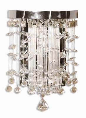 Fascination Crystal Wall Sconce With Sophisticated Design Brand Uttermost