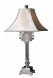 Fascination Silver Table Lamp with Crystal Accents Brand Uttermost