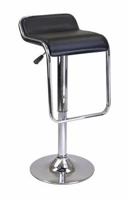 Fashionable Oslo Backless Air Lift Stool with Chrome Frame Footrest by Winsome Woods
