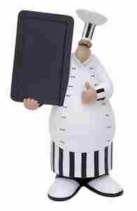 Fat Chef with Chalkboard, French Chef 17 Inch x 9 Inch Brand Woodland