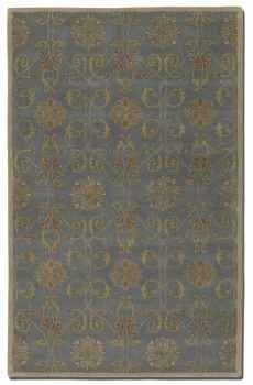 "Favara Blue 16"" Rug with Beige Details and Rust Accents Brand Uttermost"