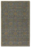 Favara Blue 5' Rug with Beige Details and Rust Accents Brand Uttermost
