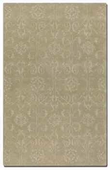 "Favara Pale Green 16"" Washed Woolen Rug with Beige Details Brand Uttermost"