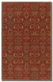 """Favara Red 16"""" Rug with Beige Details and Oxford Blue Accents Brand Uttermost"""
