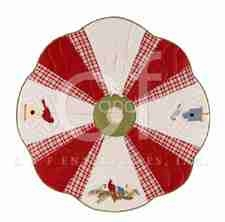 Feathered Holiday Christmas Tree Skirt, 54 Inch Brand C&F
