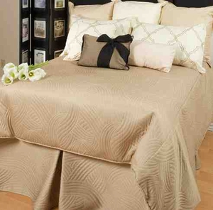 Felicity Embroidered Cotton  Quilt Luxury Os Queen  Bedding Ensembles Brand C&F