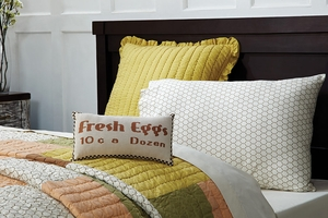 "Fenced In Pillow Stencil Fresh Eggs 7x13"" Brand VHC"