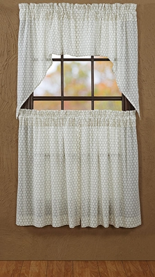 """Fenced In Swag Tobacco Cloth Unlined Set of 2 36x36x16"""" EA Brand VHC"""