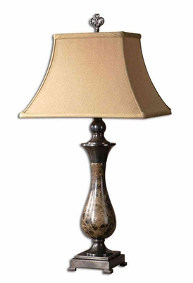 Fenton Marble Table Lamp with Oil Rubbed Bronze Details Brand Uttermost
