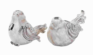 Fiber Glass Garden Bird with Antique Appearance (Set of 2) Brand Woodland