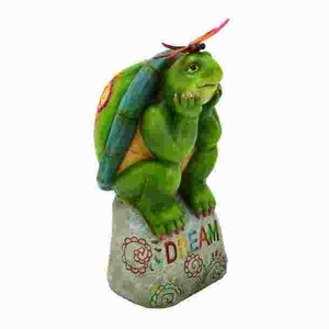 Fiber Glass Turtle Showpiece in Smooth and Luster Finish Brand Woodland