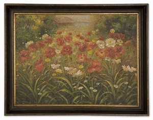 Field Of Wildflowers Hand painted Oil for Floral Art Brand Uttermost