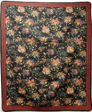 Fiesta Jubilee Floral Cotton Quilt Throw Brand American Hometex