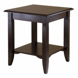 Finely Carved Traditional Nolan Wooden End Table by Winsome Woods