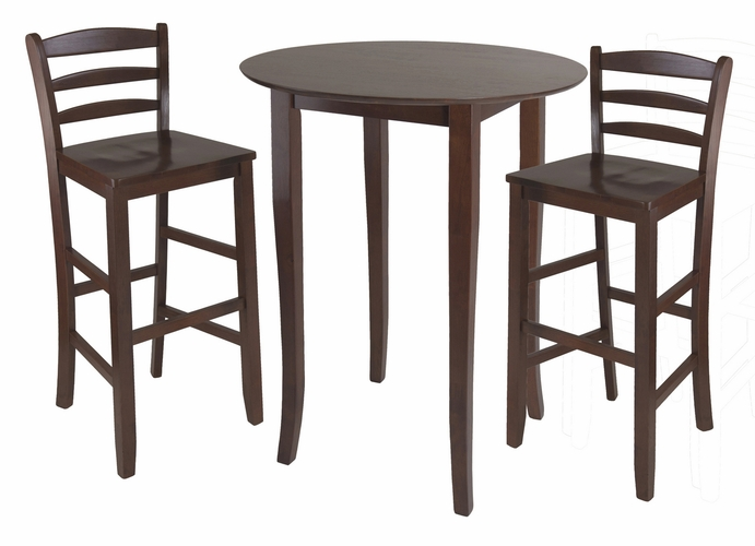 Buy Fiona 3pc High Round Table With Ladder Back Stool By