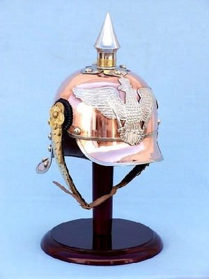 Fireman Helmet In Solid Copper & Brass  Sale Brand Wild Orchid
