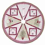 First Snow Christmas Tree Skirt, 54 Inch  Round Brand C&F