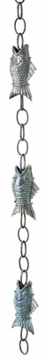 Good Directions Handcrafted Fish Rain Chain - Blue Verde Copper