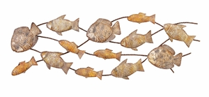 Fish Dance Nautical Metal Wall Art Decor Sculpture with Detailing Brand Woodland