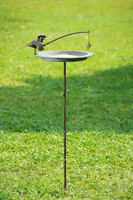 Fisherman Bird & Catch Sundial A Attracting Indoor Or Outdoor Brand SPI-HOME