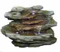 Five Level Stone Like Waterfall A Marvelous Garden Light Decor Brand Domani