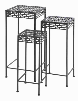 Flaunting simple and Tall Design Metal Plant Stand (Set of 3) Brand Woodland