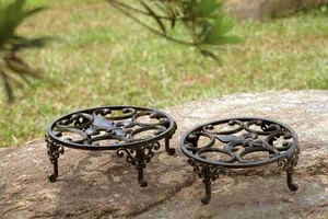 Fleur De Lis Planter Stand Set/2 Makes You Feel Natural Decor Blend Brand SPI-HOME