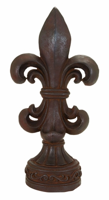 Fleur-de-Lis - Unique Polystone Table Top Decor Brand Woodland