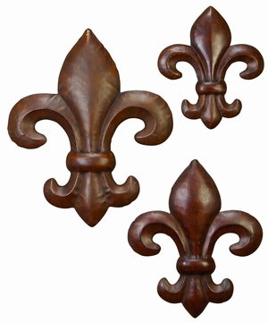 Fleur Li Dis Classic Metal Wall Decor Sculpture - Set of 3 Brand Woodland