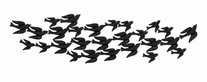 Flock Flying Metal Bird Wall Decor Brand Benzara