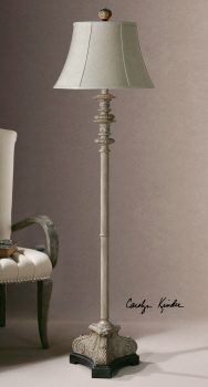 Floor Lamp - Charming Floor With A Classic Crackled Base Brand Uttermost