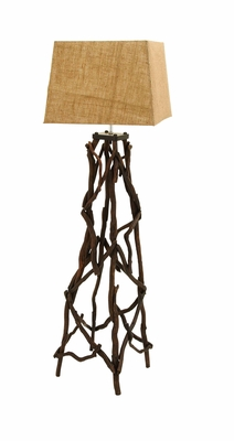 Floor Lamp With Bundled Driftwood For a Natural Look Brand Woodland