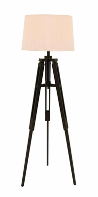 Old World Floor Lamp With Tripod From Nostalgic Silent Film Era - 67677 by Benzara