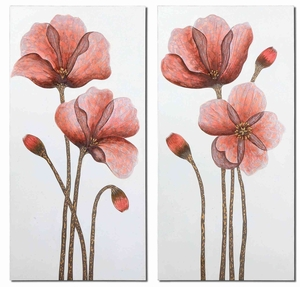 Floral Aura Hand painted Canvas Art - Set of 2 Brand Uttermost