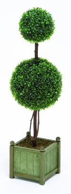 "Floral Decor Classic Topiary Boxwood 35"" Height Brand Woodland"