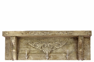 Floral Designed Fashionable Wooden Chic Shelf