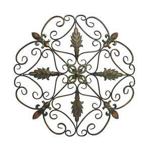 Elegant and Antique Themed Metal wall decorative - 96946 by Benzara