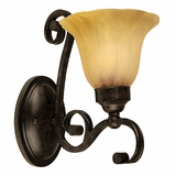 Florence Collection Attractive 1 Light Wall sconce in Venetian Bronze by Yosemite Home Decor