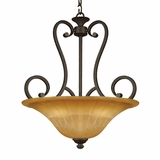 Florence Collection Stylized 4 Lights Pendant Lighting in Venetian Bronze by Yosemite Home Decor