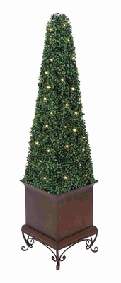 Florence Fancy LED Boxwood Topiary Brand Benzara