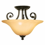 Florence Lighting Collection Classy Styled 3 Light Semi -Flush Mount in Venetian Bronze by Yosemite Home Decor