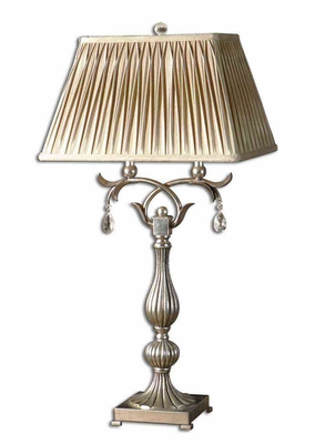 Floriane Silver Table Lamp with Crystal Accents Brand Uttermost