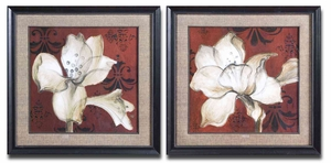 Flower Fields Art with Silver Leaf Finish - Set of 2 Brand Uttermost