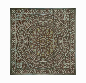 Flower Patterned Afghani Wall D�cor Brand Benzara