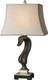 Flowing Leaf Table Lamp in Rustic Black Finish Brand Uttermost