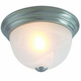 Flush Mount Lighting Series Alluring 1 Light Flush Mount in Satin Nickel Finish by Yosemite Home Decor
