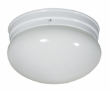 Flush Mount Lighting Series Attractive Stylized 1 Light Flush Mount in White by Yosemite Home Decor